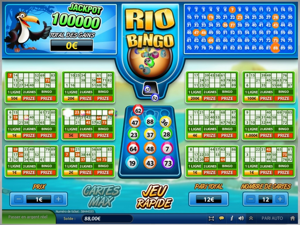 Jouer au Rio Bingo